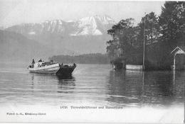 VIERWALDSTÄTTERSEE → Grosses, Beladenes Lastschiff (Nauen) Unterwegs, Ca.1910 - NW Nidwalden