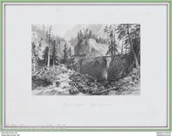 GRAVURE XIXéme Siécle.* PONT D'ESPAGNE < HAUTES  PYRENEES * Par Thomas ALLOM - Stampe & Incisioni