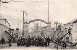 58 GUERIGNY  ENTREE DES FORGES DE LA CHAUSSADE OUVRIERES ET OUVRIERS CYCLISTES - Guerigny