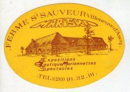 .STICKER .. AUTOCOLLANT . VILLENEUVE D'ASCQ . FERME SAINT SAUVEUR  . MARISKA . BOUTIQUE MARIONNETTES . SPECTACLES - Stickers