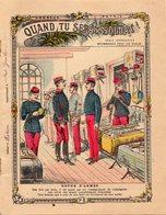COUVERTURE CAHIER - QUAND TU SERAS SOLDAT - REVUE D'ARMES - N° 6 - FUSIL LEBEL A REPETITION - Book Covers