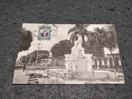 ANTIQUE POSTCARD CUBA HABANA STATUE CIRCULATED 1914 - Cartes Postales