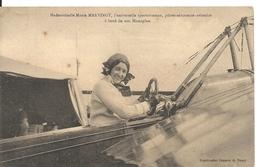 MARIE MARVINGT. PILOTE AERONAUTE AVIATRICE. COUPURE DE JOURNAL - Aviateurs