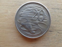 Australie  20  Cents  1967  Km 66 - Monnaie Décimale (1966-...)