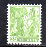 453/1500 - SVIZZERA 1936 ,  Unificato N. 296A  ***  MNH  Vedute - Suisse