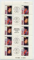Bloc Feuillet De 10 Timbres, Birthday Greetings From MAURITIUS - Queen Elizabeth II - Mauritius (1968-...)