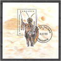 Tanzania 1993 Costumes The Tribes And Regions  Mi Bloc 236 Cancelled(o) - Tanzania (1964-...)
