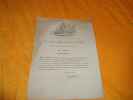 DOCUMENT ANCIEN BORDEAUX LE 9 VENTOSE AN 11. UN ARRETE DE CE JOUR../ LE CONSEILLER D'ETAT PREFET DU DPT. DE LA GIRONDE. - Historical Documents