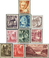 Franz. Zone-Rheinland Palatine 32-41 (complete Issue) Unmounted Mint / Never Hinged 1948 Views - French Zone