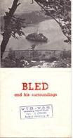 Brochure Dépliant Faltblatt Toerisme Tourisme - Bled And Surroundings - Ca 1960 - Dépliants Touristiques