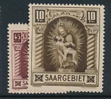 SARRE SAAR YVERT 101/2 LH - 1920-35 Société Des Nations