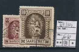 SARRE SAAR YVERT 101/2 USED - Oblitérés