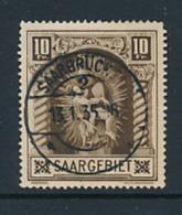 SARRE SAAR YVERT 102 USED - Oblitérés