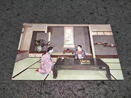 ANTIQUE POSTCARD JAPAN - JAPANESE MAIN ROOM UNUSED - Japon