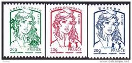 France Marianne De La Jeunesse Par Ciappa Et Kawena N° 4778 - 4779 - 4780 ** Roulettes - Les Gommés 20 G. - 2013-... Marianne (Ciappa-Kawena)