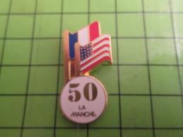 210c Pin's Pins / Beau Et Rare : Thème MILITARIA : C'était Pas Dans La Poche, C'était Dans La MANCHE 1944 50e ANNIVERSAI - Perfume