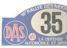 Plaque De Rallye, 16 E Rallye Des Neiges 1980 , DAS , GVEA , 2 Scans , N° 35, Frais Fr 4.75 E - Plaques De Rallye