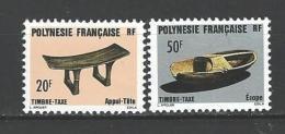 """Polynésie Taxe YT 8 & 9 """" Artisanat """" 1987 Neuf** - Timbres-taxe"""