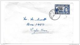 101 - 46 - Fragment Enveloppe Envoyée De St Helena à Capetwon 1952 - Saint Helena Island