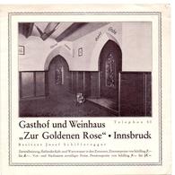 Brochure Dépliant Faltblatt Toerisme Tourisme - Hotel Gasthof Weinhaus Zur Goldenen Rose - Innsbruck - Ca 1955 - Reiseprospekte