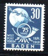 Baden / N 57 / 30 P Bleu /  NEUF ** - Baden