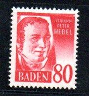 Baden / N 36 / 80 P Rouge  /   NEUF ** - Franse Zone