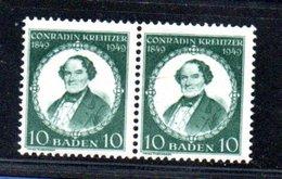 Baden / N 47 / Paire Du 10 P Vert   /   NEUF ** - Bade