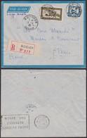 Indochine 1935 - Lettre En Recommandé Par Avion De Qui-Nhon Vers Paris (5G22578) DC0020 - Lettres & Documents