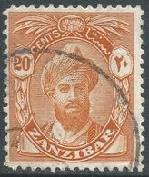 Zanzibar 1936 Sultan Kalif Bin Harub. 20c Used. Mult Script CA W/M SG 313 - Zanzibar (...-1963)