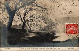SALON DE 1908 - Sous Les Noyers Aux Eyzies Par Louis CABIE - Carte Postée - Peintures & Tableaux