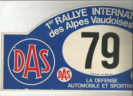 Plaque De Rallye, 1 Er Rallye International Des Alpes Vaudoises , Suisse,1982 , 2 Scans , N° 79, Frais Fr 4.75 E - Plaques De Rallye
