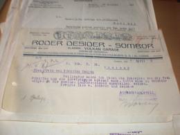Sombor Zombor Roder Desider 1937 - Facturas & Documentos Mercantiles