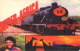 TARJETA TELEFONICA DE ESPAÑA PREPAGO, USADA. TRENES. (057) - Trains