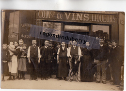 CPA PHOTO - MAISON P. TACNET Commerce De VINS Et LIQUEURS Angle Rue Nartre ? à Situer Très Belle Qual Photo - To Identify