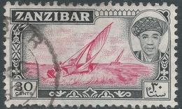 Zanzibar 1961 Sultan Seyyid Sir Abdulla Bin Khalifa. 30c Used. SG 378 - Zanzibar (...-1963)