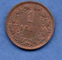 Autriche-   1 Kreuzer 1881  --  Km #  2186 --  état SUP - Austria