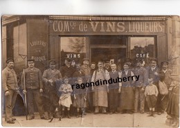 CPA PHOTO - MAISON P. TACNET Commerce De VINS Et LIQUEURS Angle Rue Nartre ? à Situer PLAN DIFFERENT - To Identify