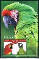 Bloc Sheet Oiseaux Perroquets Birds Parrots Macaws Neuf  MNH **  Nevis 2014 - Papagayos
