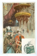 1900's, Italy, Milan, Interno Del Duomo. Printed Art Chromo Pc, Used. - Milano (Milan)
