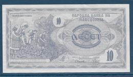 Macédoine - 10 Denar - Pick N°1 - SPL - Macedonië