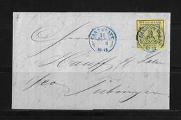Altdeutschland Württemberg → Brief Cannstatt Nach Tübingen 1852 - Wurtemberg