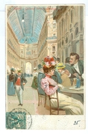 1903, Italy, Milano, Galleria Vittorio Emanuele. Printed Art Chromo Pc, Used. - Milano (Milan)