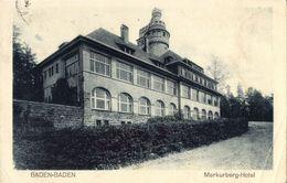 BADEN-BADEN, Merkurberg Hotel (1930s) AK - Baden-Baden
