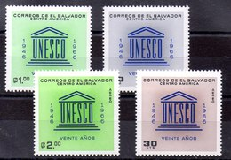 Series De El Salvador N ºYvert 716/17+Aéreo 212/13 (**) - El Salvador