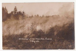 Sourbrodt: Waldbrand An Der Belgische Grenze. (16 Aug. 1911,Fotokarte) - Waimes - Weismes