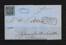 Altdeutschland Baden → Umschlag Mannheim  Nach Bingen 1859 - Bade
