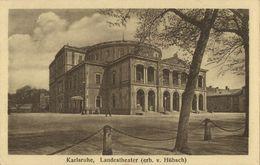 KARLSRUHE, Landestheater, Erb. V. Hübsch (1925) AK - Karlsruhe