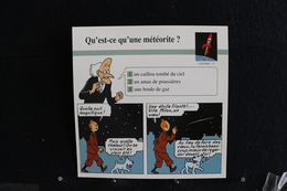 Fiche Atlas,TINTIN (extrait De, L'Étoile Mystérieuse) - Univers,N°37. Qu'est-ce Qu'une Météorite  ? - Sammlungen