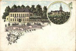 CLEVE, Hotel Verweyen, Schwanenburg (1899) Litho AK - Kleve