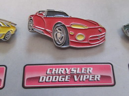 210c Pin's Pins / Beau Et Rare : Thème AUTOMOBILES : CHRYSLER DODGE VIPER - Badges